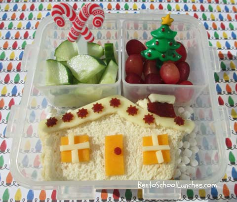 Gingerbread House bento