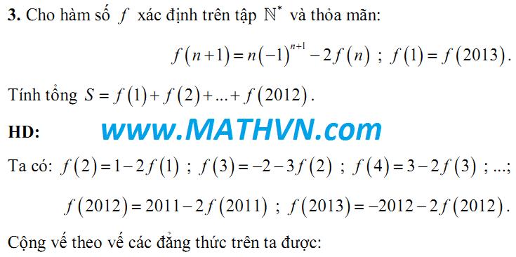 phuong trinh ham, olympic 30/4