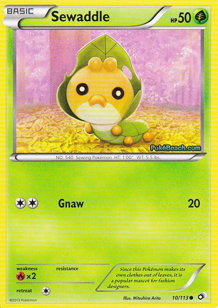 sewaddle legendary treasures pokemon card review