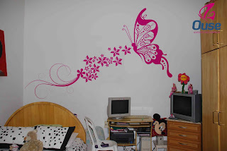 como usar adesivos decorativos na parede
