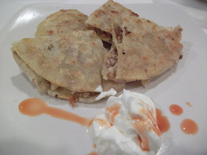 Pork, Fig, Mushroom Quesadillas
