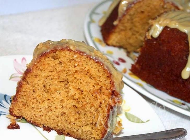 Receita de bolo de rapadura cobertura leite condensado