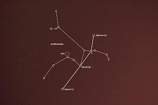 andromeda star chart