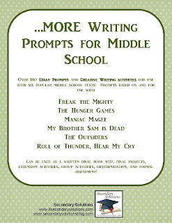 Descriptive Writing Prompts For Middle Schoolers