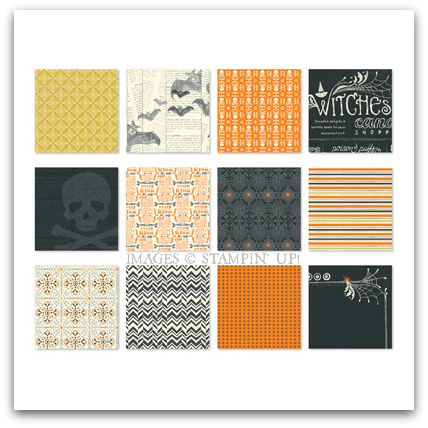 Stampin' Up! Witches Brew Digital Patterned Paper Download