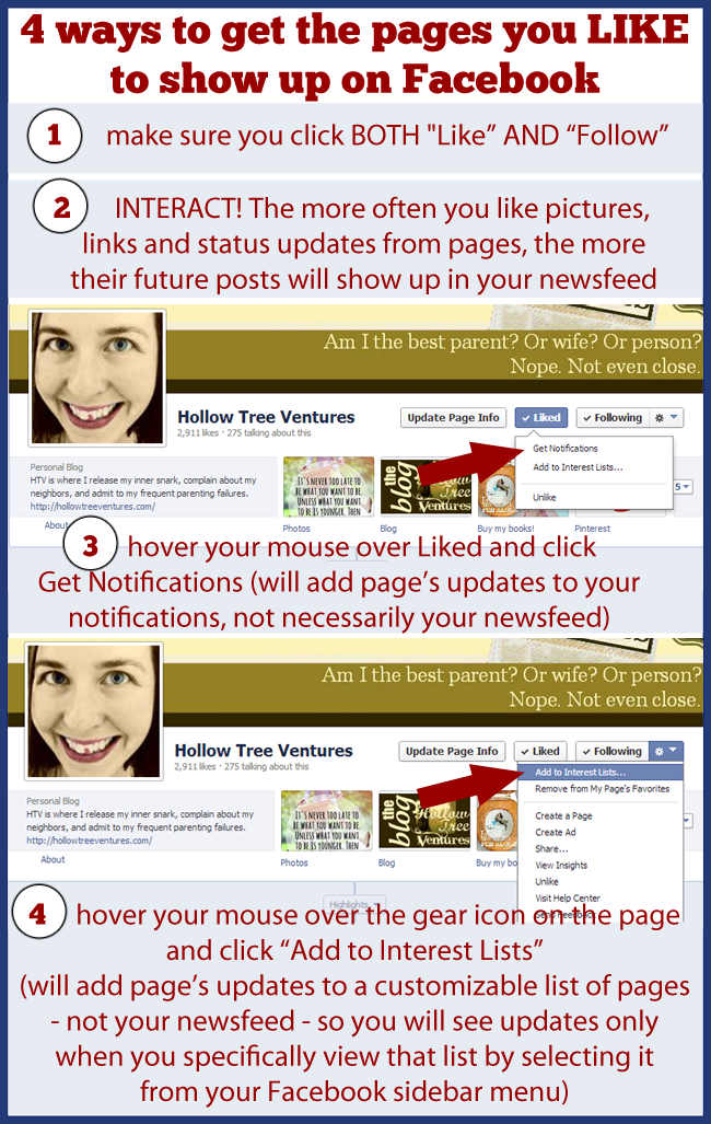 4 ways to get pages you Like to show up on Facebook, by Robyn Welling @RobynHTV