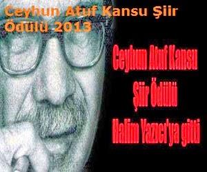 Ceyhun Atuf Kansu Şiir Ödülü 2013