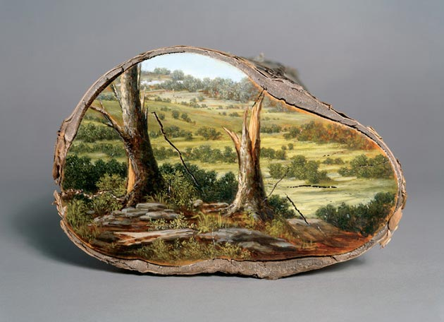 09-Log-Series-Alison-Moritsugu-Landscape-Painting-on-Tree-Logs-www-designstack-co