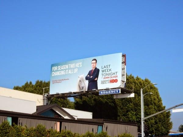 Last Week Tonight John Oliver season 2 pony billboard