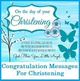 Sample Messages and Wishes! : What to Write in a Christening Card ...