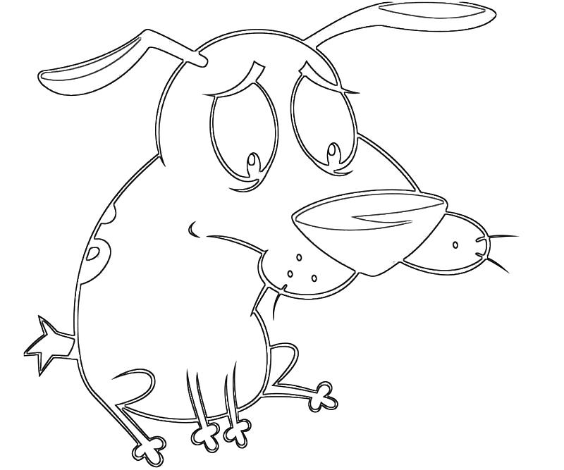 printable-courage-dog-hungry-coloring-pages