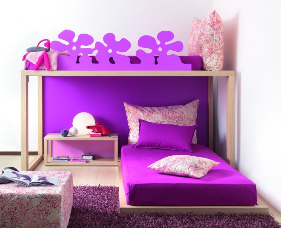 Childrens Bedrooms Cute Purple