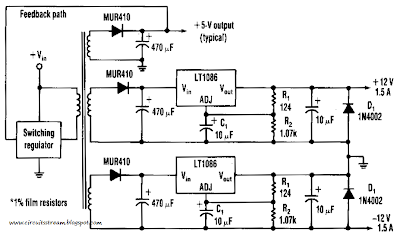 Efficient Negative Voltage Regulator Circuit Diagram