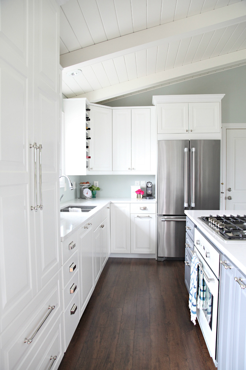Although We Did Not Install The Cabinets On Top Of The Flooring, Our  Appliances Sit On Top Of The Floors For A Seamless Look (and To Make  Appliance ...