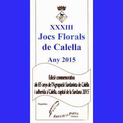 XXXIII Jocs Florals de Calella 2015