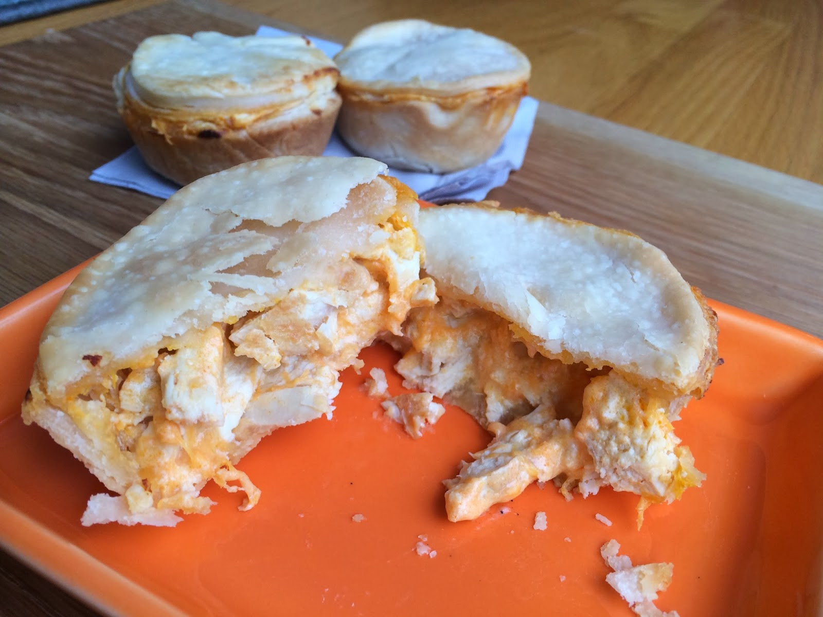 Quick and Easy Buffalo Chicken Pot Pies