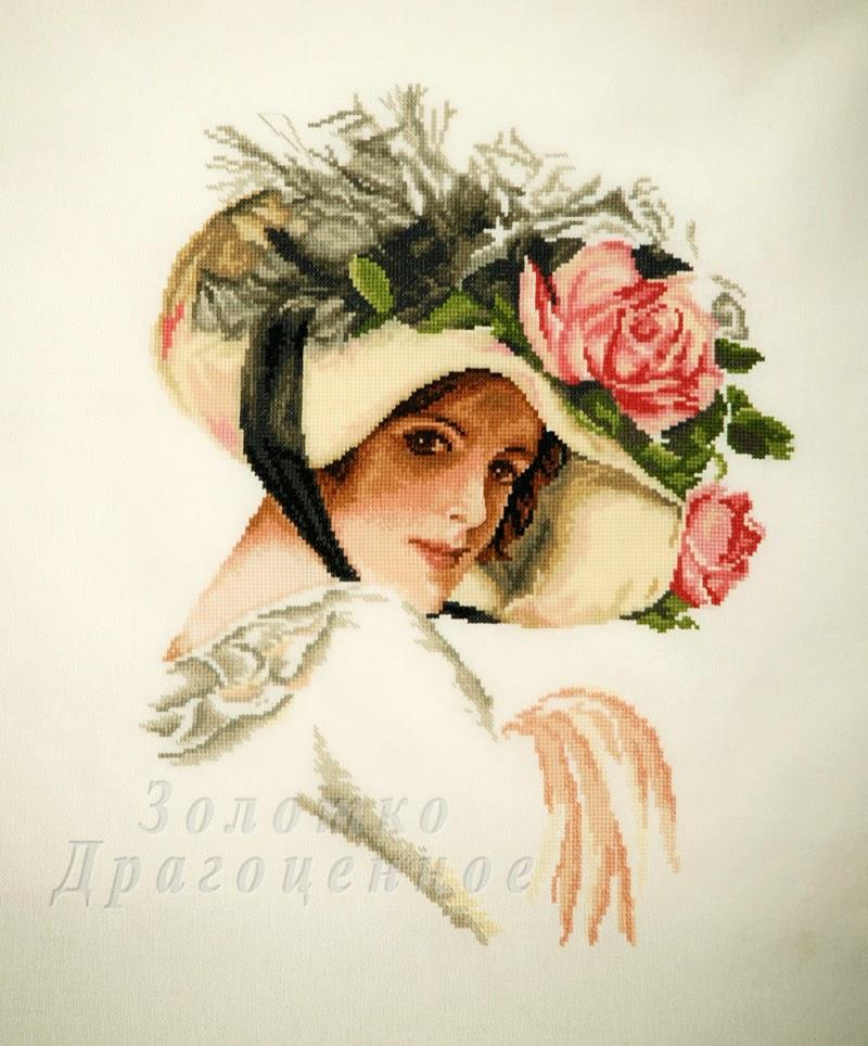 """""""Девушка в шляпе с розой""""."""