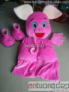 cho thuê mascot heo hồng