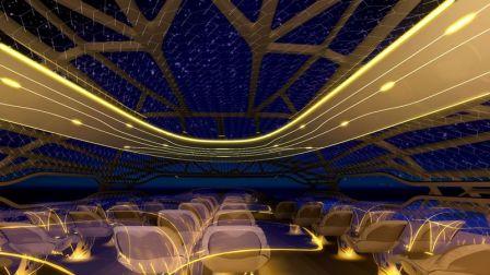 Avião conceito da Air Bus - teto transparente