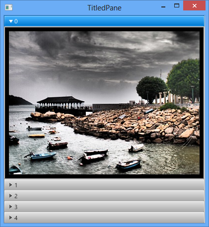 Display multi images in JavaFX 2 TitledPanes