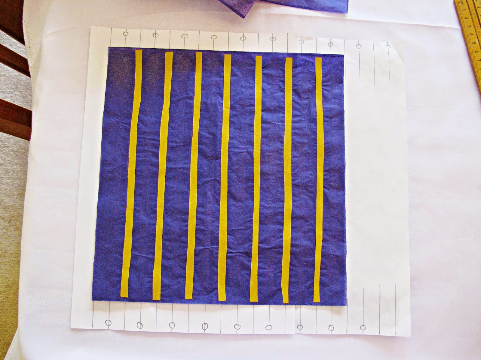 image diy tutorial honeycomb paper place tape or glue on the alternate lines now