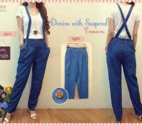 Jeans suspender trousers CKJ208