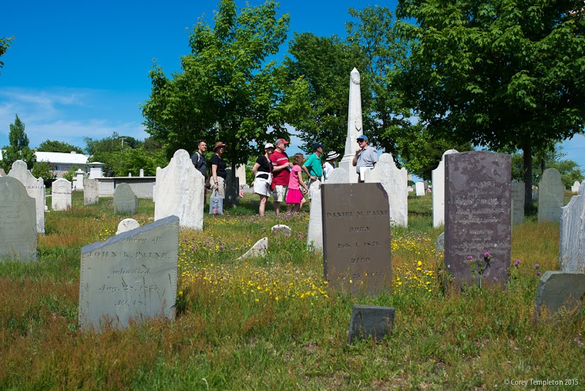 Eastern Cemetery in Portland, Maine June 2015 tours by Spirits Alive group. Photo by Corey Templeton.