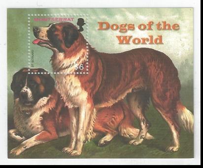 2006年モントセラト セント・バーナードの切手シート
