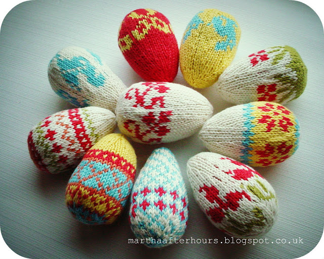 Knitting Easter Eggs : After hours scandinavian knitted eggs
