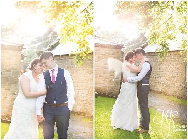 golden hour, woodhill hall, northumberland wedding venue, woodhill hall wedding photographs, woodland wedding, otterburn wedding, katie byram photography,