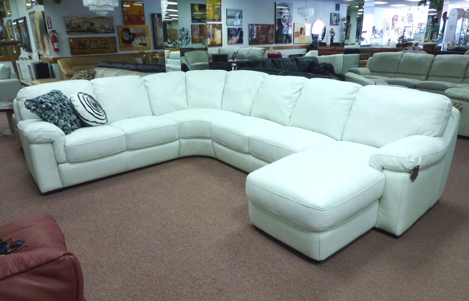 Natuzzi by interior concepts furniture natuzzi leather for Leather sectional sofa