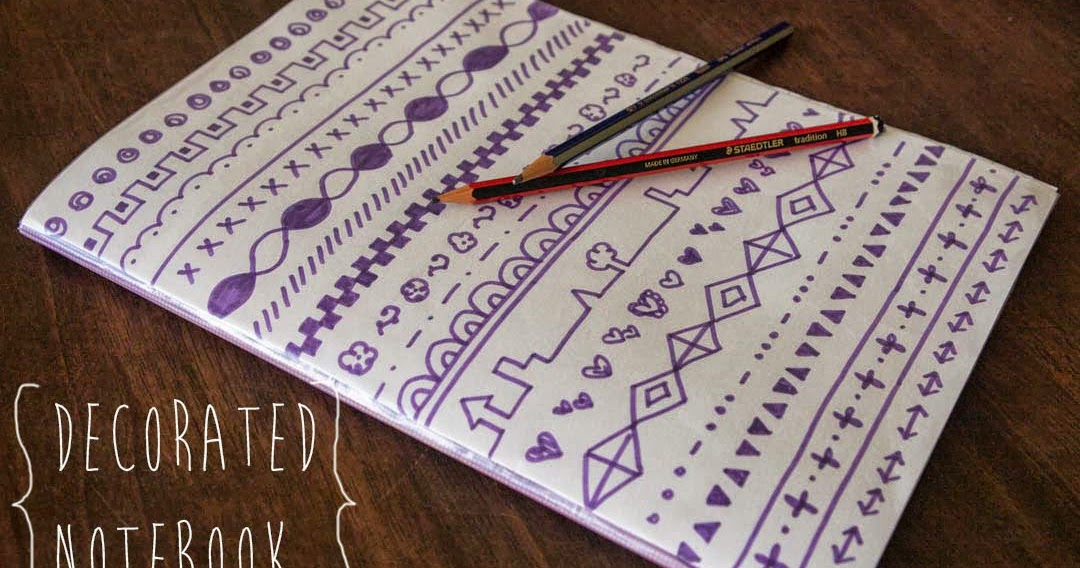 & Sophie At Home: Quick Craft // Decorate a Notebook