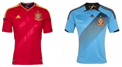 Spain Home+Away Euro 2012 Kits (Adidas)