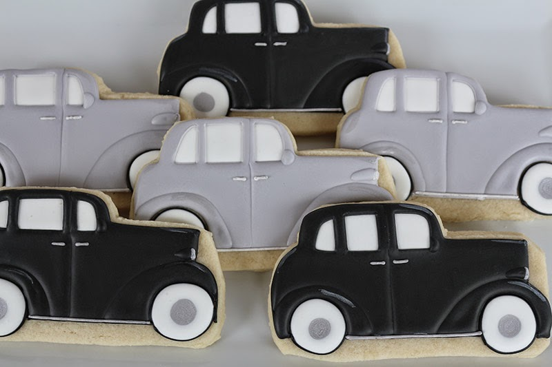 Antique car cookies