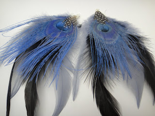Baby Clay Feather Earrings