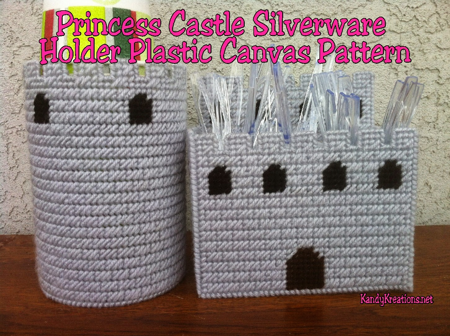Princess Castle Silverware Pattern Plastic Canvas Patterns by Kandy Kreations