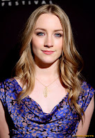 Saoirse Ronan in a little blue dress at Virtuoso Award Presented By Chopin Vodka