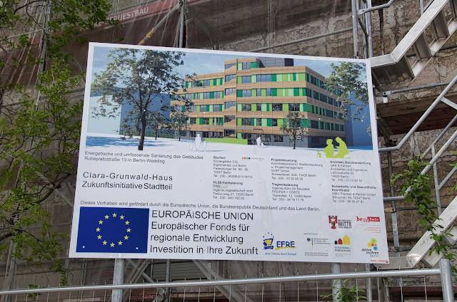Baustelle Sanierung, Clara-Grunwald-Haus, Zukunftsinitiative Stadtteil, Ruheplatzstraße 13, 13347 Berlin, 23.04.2014
