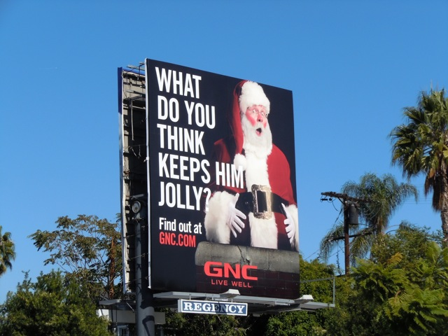 Jolly GNC Santa billboard