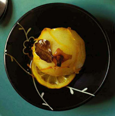 Baked Pears with Chocolate and Dates