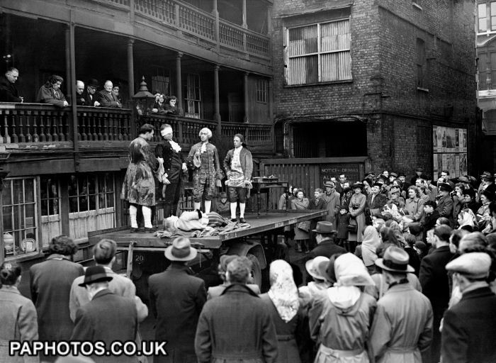 baugh s blog book review charles dickens a tale of two cities  an out door production of a tale of two cities by the dickensian tabard players at the george inn in southwark 1949