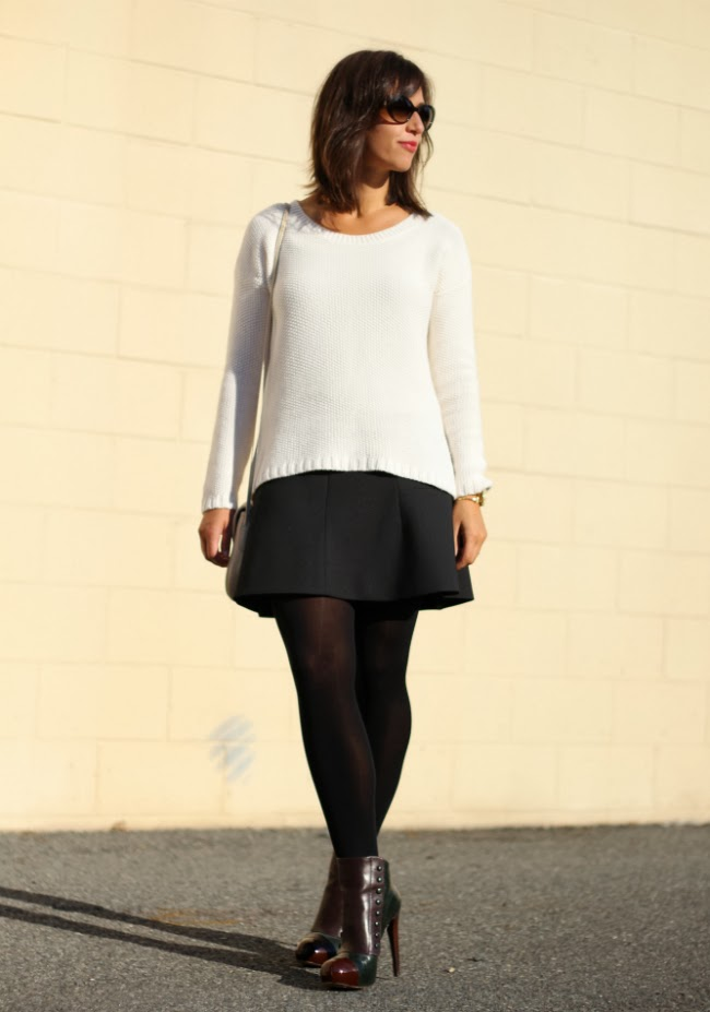 Fluted Skirt goes Fall