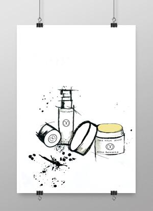 maria åkerberg, make up, krämer, kräm, smink, sminktavla, sminktavlor, handmålat, handmålade, svart och vitt, annelies design, interior, inredning, inredningsdetaljer, konsttryck,, poster, posters, tavlor, tavla, artprint, artprints, plakat, plakater,