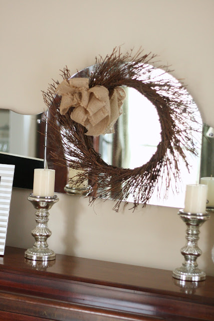 diy burlap bow wreath