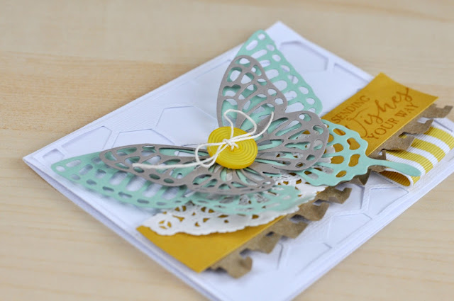 Stampin' Up Layered Butterfly Die Cut Card with video by Jen Gallacher.