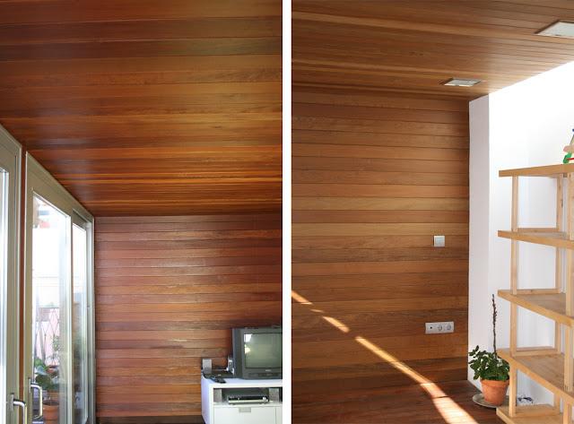 Techos de madera grupo gubia espacios en madera for Paredes imitacion madera