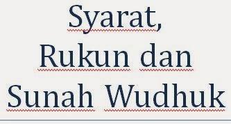 Syarat Rukun dan Sunah Wudhuk