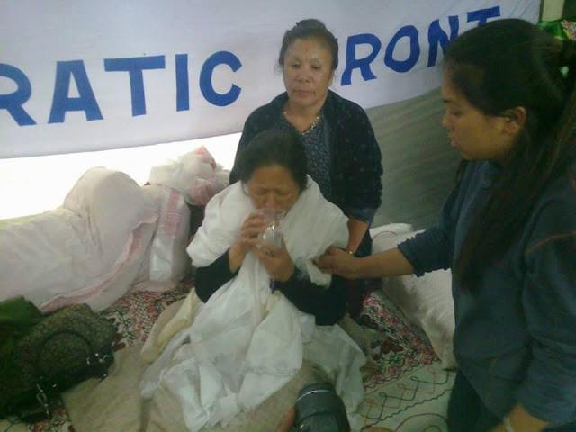 Bharati Tamang lifts Hunger Strike