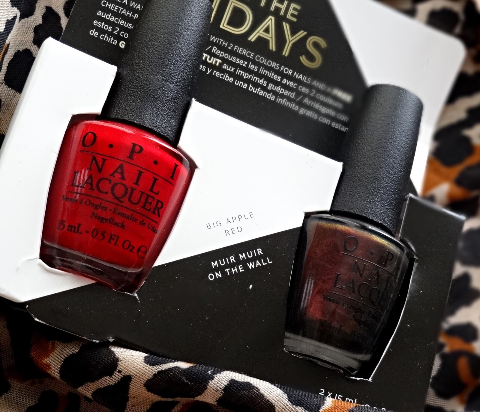 OPI Wrapped Wild For The Holidays - Muir Muir On The Wall, Big Apple Red   OPI Holiday 2014 Limited Edition
