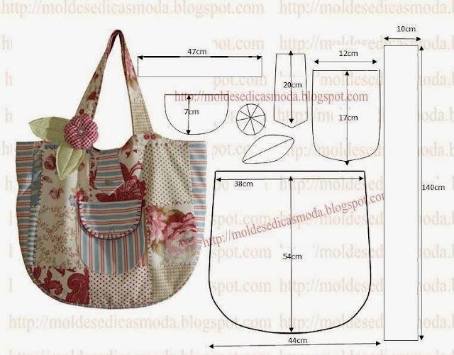 Выкройка сумки торбы своими руками